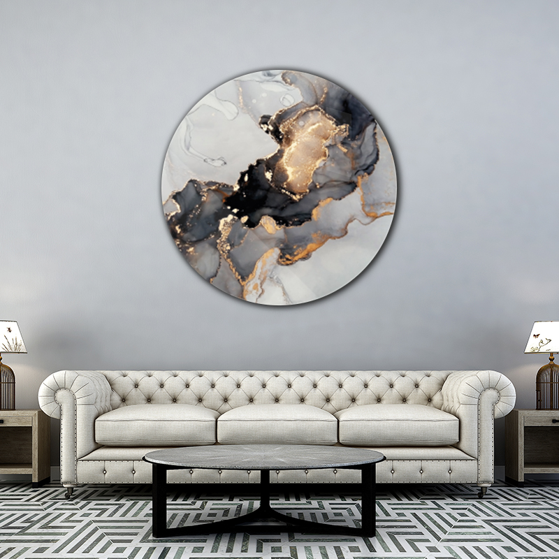 ToF Luxury black and gold rond