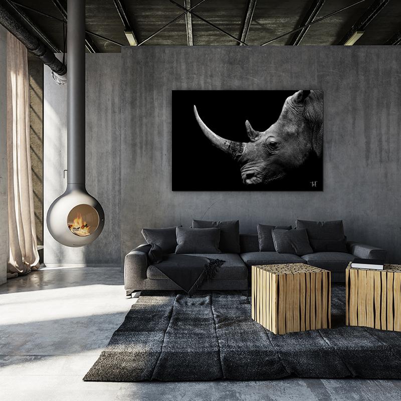 ToF Big Horn rhino liggend
