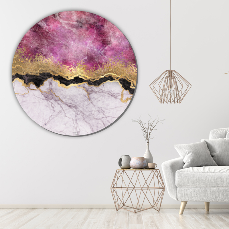 ToF Pink marble with veins stone texture rond