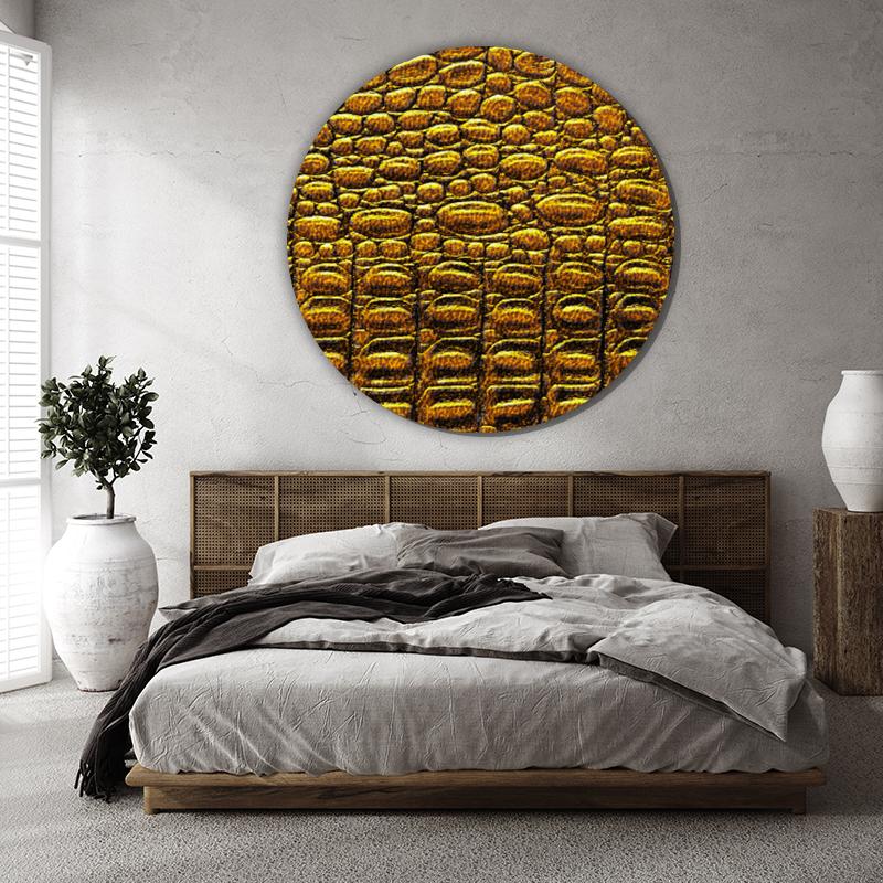ToF Alligator patterned background rond