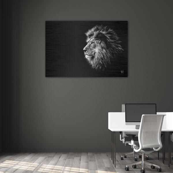 wanddecoratie liggend leeuw