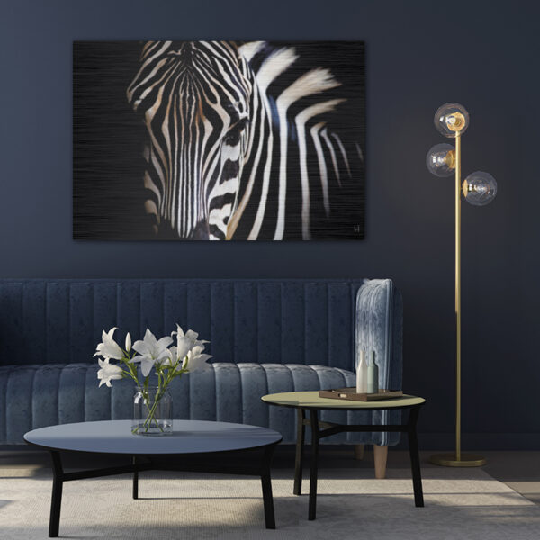 wanddecoratie liggend zebra